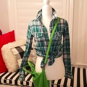Green flannel shirts